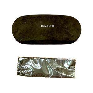 New Tom Ford dark brown velvet glasses case, cloth